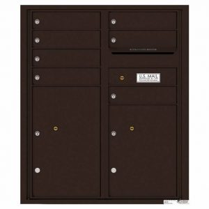 Florence Versatile Front Loading 4C Commercial Mailbox with 7 Tenant Doors and 2 Parcel Lockers 4CADD-07 Dark Bronze
