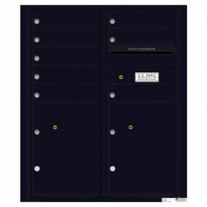 Florence Versatile Front Loading 4C Commercial Mailbox with 8 tenant Doors and 2 Parcel Lockers 4CADD-08 Black