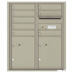 Florence Versatile Front Loading 4C Commercial Mailbox with 8 tenant Doors and 2 Parcel Lockers 4CADD-08 Postal Grey