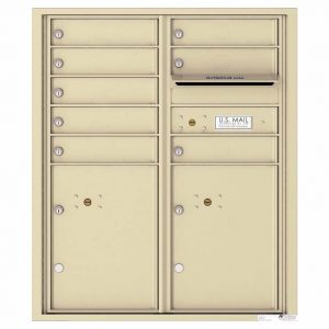 Florence Versatile Front Loading 4C Commercial Mailbox with 8 tenant Doors and 2 Parcel Lockers 4CADD-08 Sandstone