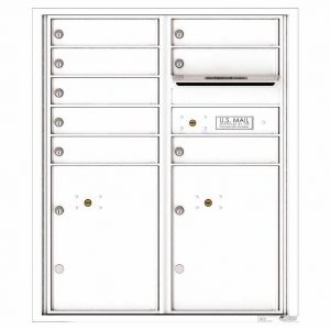 Florence Versatile Front Loading 4C Commercial Mailbox with 8 tenant Doors and 2 Parcel Lockers 4CADD-08 White